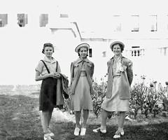 Mom and Friends After (kevin63) Tags: old girls portrait photoshop vintage 1938 betty charleston wv capitol westvirginia shelby restoration lightner saddleshoes writingcontest littledebbiehats