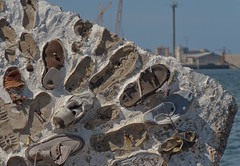 Footprints & Old Shoes (ortophon) Tags: old italy shoes italia harbour footprints porto sicily palermo sicilia scarpe impronte