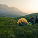Tent on Alpine Tundra