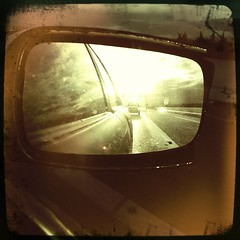 Speed of Light (LiesBaas) Tags: auto road sun reflection car way mirror highway pix stripe picture pic freeway zon weg iphone vehicule snelweg reflectie wagen rijden snelheid vehikel iphotography iphonography liesbaas hipstamatic speedoflightbyliesbaas mideenstreep