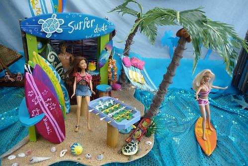 Surf Shop in Tropical Island