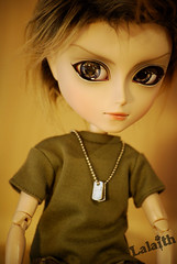Kyle (_Lalaith_) Tags: blue boy male shirt project kyle fur eyes doll military wayne stock khaki chips chip plates pullip tae gyro steampunk coolcat lalaith taeyang rewigged rechipped