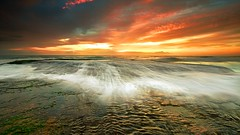 illumination (James.Breeze) Tags: ocean seascape beach water sunrise landscape rocks raw waves seascapes cloudy sydney australia nsw breeze reef saltwater northernbeaches beachsunrise canonef1740mmf4l flickrxmas bestofaustralia jamesbreeze
