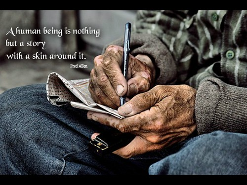 A human being...