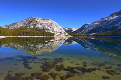 Lake Tenaya (wellscenephotography (ON)) Tags: november blue sun lake snow mountains color nature water horizontal reflections landscape photography still nikon day natural scenic gap vivid clarity nopeople scene yosemite tranquil tenaya 2011 d5100 alchristensen wellscenephotography gap201112 gapreview gapreview001 gapselected