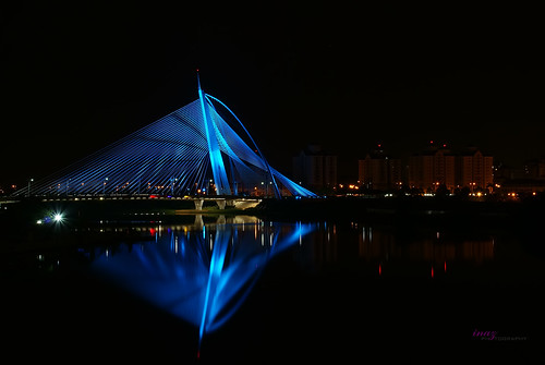 Seri Wawasan Bridge, Putrajaya In Reflection