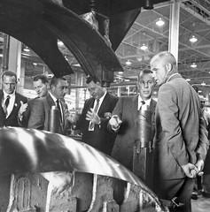 Facilities-Lindbergh Field Plt. 19 (San Diego Air & Space Museum Archives) Tags: looking skin glenn astronaut stretch astronauts form vips tool carpenter johnglenn scottcarpenter grissom gusgrissom
