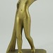 187. Gilt Metal Art Deco Figure