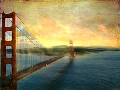 """The Golden Gate"" (Chrismatos Too busy, sorry) Tags: bridge pink blue people usa color green texture love nature water america river garden fun gold friendship country places romance explore lanscape"