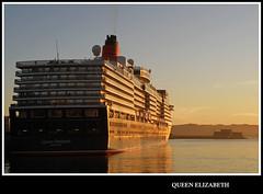 Queen Elizabeth (sacre) Tags: sea port puerto mar corua barcos harbour ships olympus cruiseship cunard queenelizabeth crucero acorua lacorua olympus570uz