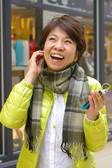 woman me japanese smartphone earphone (Photo: akiko@flickr on Flickr)