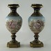 306. Pair of Limoges style Mantel Urns