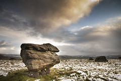 Erratic (Michaeljohn) Tags: winter snow cold rock nationalpark snowy yorkshire geology icy northyorkshire yorkshiredales erratic welcomeuk norbereratics