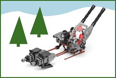 Steam Zombie Santa (pasukaru76) Tags: santa christmas lego zombie sled steampunk hohoho moc canon100mm