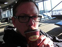 one for the road (Don Maxwell) Tags: selfportrait canada me coffee airport ottawa movember moustache mustache timhortons yow ottawaairport papercup alwaysfresh ottawainternationalairport toujoursfrais ottawamacdonaldcartierinternationalairport macdonaldcartierinternationalairport