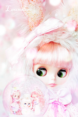 i dream of snow globes (launshae) Tags: pink snow paris dream blythe savannah prima dolly globes parfait tassels bunn stellah launshae