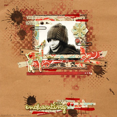 Czarujco - enchanting (finnabair) Tags: scrapbooking paper layout paint stamps craft page prima