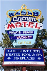 Crown Motel - Lake Tahoe 2010 (Kenneth David Geiger (aka Ken Foto)) Tags: california nevada laketahoe crownmotel vintagemotelsigns mg55791a