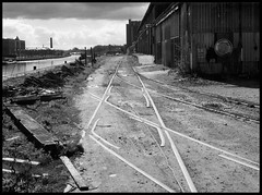 Disappearing Gloucester #5 (R~P~M) Tags: uk greatbritain england abandoned train canal dock track unitedkingdom railway gloucestershire quay gloucester disused derelict glos llanthony