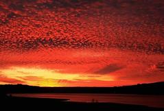 EXPLOSION! (da.geli) Tags: sunset red italy lake water clouds niceshot explosion umbria lagodicorbara mygearandme