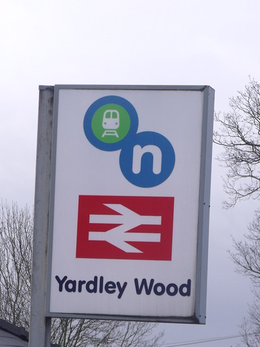 Yardley Wood Station - Highfield Road - Hall Green / Yardley Wood - sign