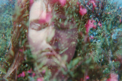 Untitled (Kacie Sierra) Tags: flowers film girl face analog lomography exposure double diana f analogue exposed
