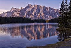 Two Jack Terrific (Jeff Clow) Tags: morning mountrundle albertacanada banffnationalpark canadianrockies twojacklake