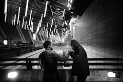 Quiet Moment at the Shanghai Airport (Jonathan Kos-Read) Tags: china blackandwhite bw delete5 deleted9 deleted6 shanghai saved1 delete7 deleted3 deleted2 saved2 chinese deleted10 smoking deleted deleted8 futuristic saved3 saved4 deleetd4