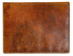 Antique Leather Book Cover (okculaw) Tags: old brown texture stain leather book photo stitch antique hide worn backgrounds bookcover scratch distressed crease stiching