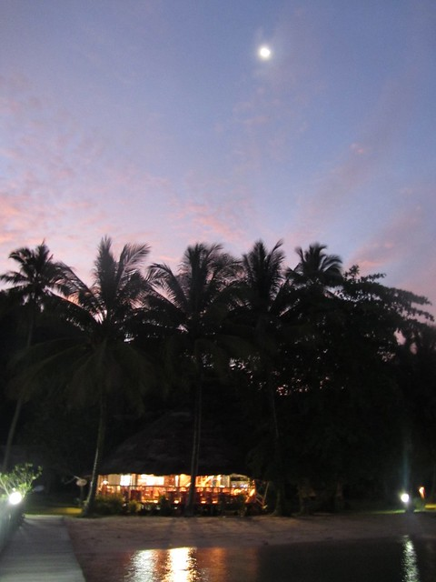 Night scene of the restaurant.