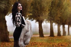 In The Fog (Jasmine Lee Viray) Tags: winter fall leaves fashion canon model makeup retouch 60d