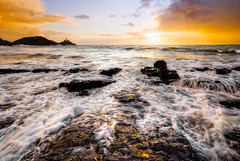 St Brides Delight (GaryHowells) Tags: sea wales sunrise splash stbridesbay