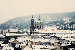 St. Nicholas Church (ewitsoe) Tags: city winter snow cold nikon europe day prague pra praha czechrepublic snowing 20mm decemeber