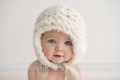oh my! (Heidi Hope) Tags: portrait baby girl photography natural sweet blueeyes cream knit babygirl babypicture bonnet 6months babyportrait babyphotographer heidihopephotography heidihope httpwwwheidihopecom httpwwwfacebookcomheidihopephotographyfans