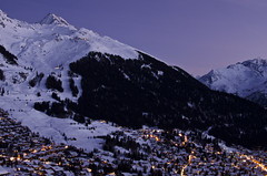 New Year approaches (Philip Field) Tags: sunset snow landscape town nikon europe newyear verbier verbierswitzerland d7000 nikond7000 philipfield philfield