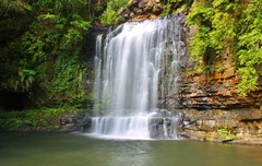 Belmore Falls, Robertson, NSW - Third Tier (Idiot4Hire) Tags: trees nature water beautiful beauty landscape waterfall log bush rocks natural relaxing australia nsw newsouthwales cave tranquil silky robertson pristine southernhighlands belmore belmorefalls