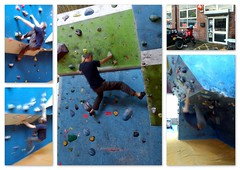 Climbing Works.. (Mike-Lee) Tags: collage sheffield tiger picasa indoor motorbike bouldering triumphtiger climbingworks jan2012 sonyericsonphonecam