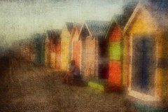 Protection (Andrew Paranavitana) Tags: boy sea summer people woman sun man color colour texture beach girl lensbaby photomanipulation manipulated canon happy photography bay photo sand hug marine colorful warm brighton bright box room melbourne manipulation andrew calm safety nostalgia hut changing nostalgic boxes safe colourful protection digitalphotography subdued manipulate 50d paranavitana