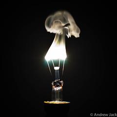 Burnt Out (OnlyEverOneJack) Tags: broken mushroom lightbulb jack smoke sony andrew burning alpha filament a900 sigma1735mm andrewjack sonyalphaa900 sonya900 alphaa900 onlyeveronejack imagesbyandrewjack