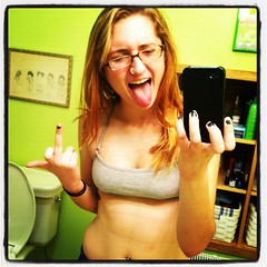 day viii- worst workout ever. (365daysofsarav) Tags: late 365 iphone fail sportsbra 365days instagram