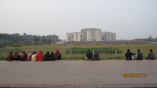 The parlament house in Dhaka