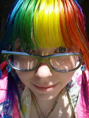 Morning (Megan is me...) Tags: pink original red portrait cute green apple colors girl smile fashion yellow self hair happy photography grey glasses spring amazing cool rainbow eyes colorful neon pretty ray colours russell mckay bright turquoise unique oneofakind ooak awesome flamingo meg gray violet plum megan style smiley kawaii poppy jerome mandarin colored dye multicolored ban punky dyed brightyellow flamingopink megface rainbowoutfit rainbowclothes meganisme meganyourface