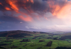Shinnel valley, Upper Nithsdale, Scotland (Kenny Muir) Tags: sunset landscape scotland hills thornhill tynron nithsdale moniaive auchengibbert