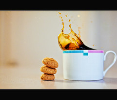 Making a Splash with Coffee v2.0 [+1 in Comments] (AnthonyMikeLee) Tags: sanfrancisco ca light black home cup coffee 50mm cookie natural starbucks splash latte brew amaretto sigmalux