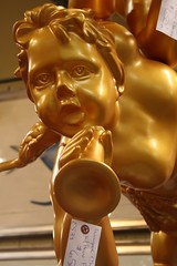 Golden Cherub from on high... (The Red Hare {a mixed-media studio}) Tags: gold cherub salvage creativeinspiration stamfordct january2012 unitedhousewrecking buildingsalvage saturdayroadtripfromhuntington architecturerecovery
