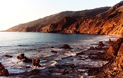 (Maddie Joyce) Tags: ocean california friends light sea wild sunlight film beach beautiful forest 35mm evening coast maddie big minolta cliffs adventure burn joyce sur redwoods leak rugged