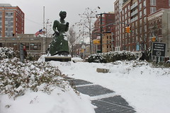 Harriet Tubman Memorial (joseph a) Tags: newyorkcity snow newyork harlem manhattan harriettubmanmemorial