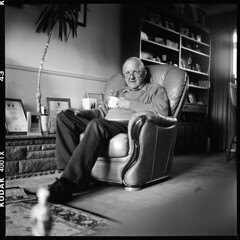 ((Tom)) Tags: uk 2 blackandwhite bw 120 home mono glasses chair flickr dad father trix relaxing 1600 explore mat 124g british welsh rodinal yashica cupoftea 1100 standdevelopment 90minutes explored pushedtwostops