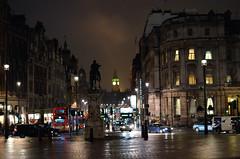 Trafalgar Square & Whitehall (John A King) Tags: london wet statue night reflections dark square cross trafalgar charing whitehall charlesi