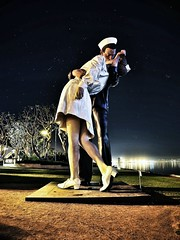1945 (Bestman Productions) Tags: statue harbor sandiego nurse sailor midway 1945 bestmanproductions